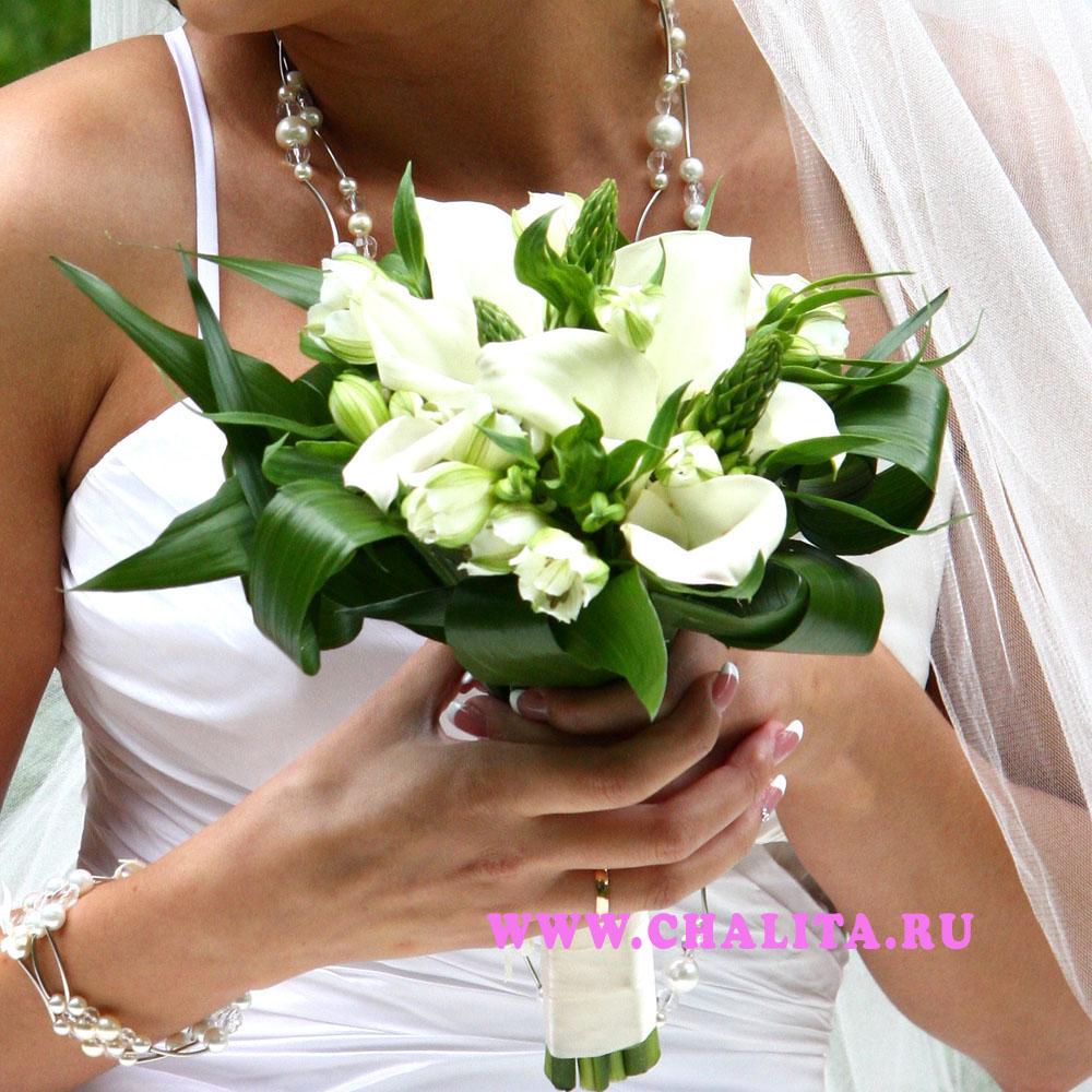 Букет невесты «Белые каллы»